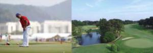 東京オリンピックの競技ゴルフ画像