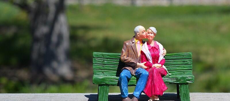 夫婦が喜ぶ写真