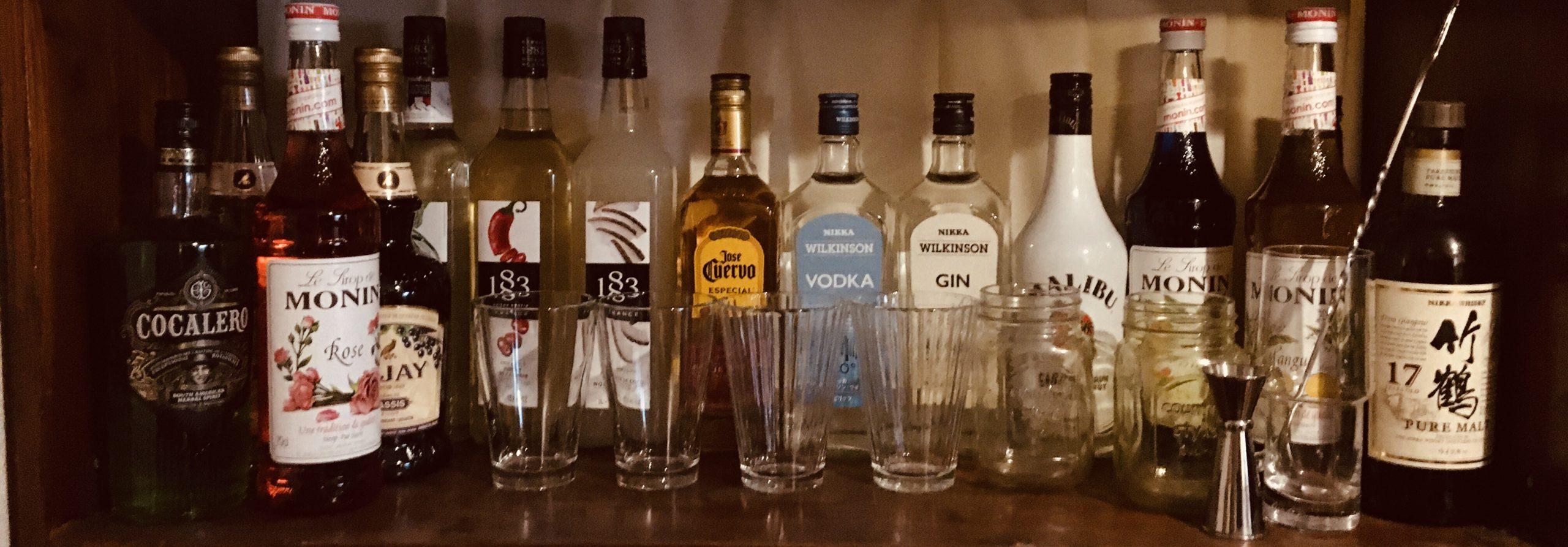 自宅の酒の棚