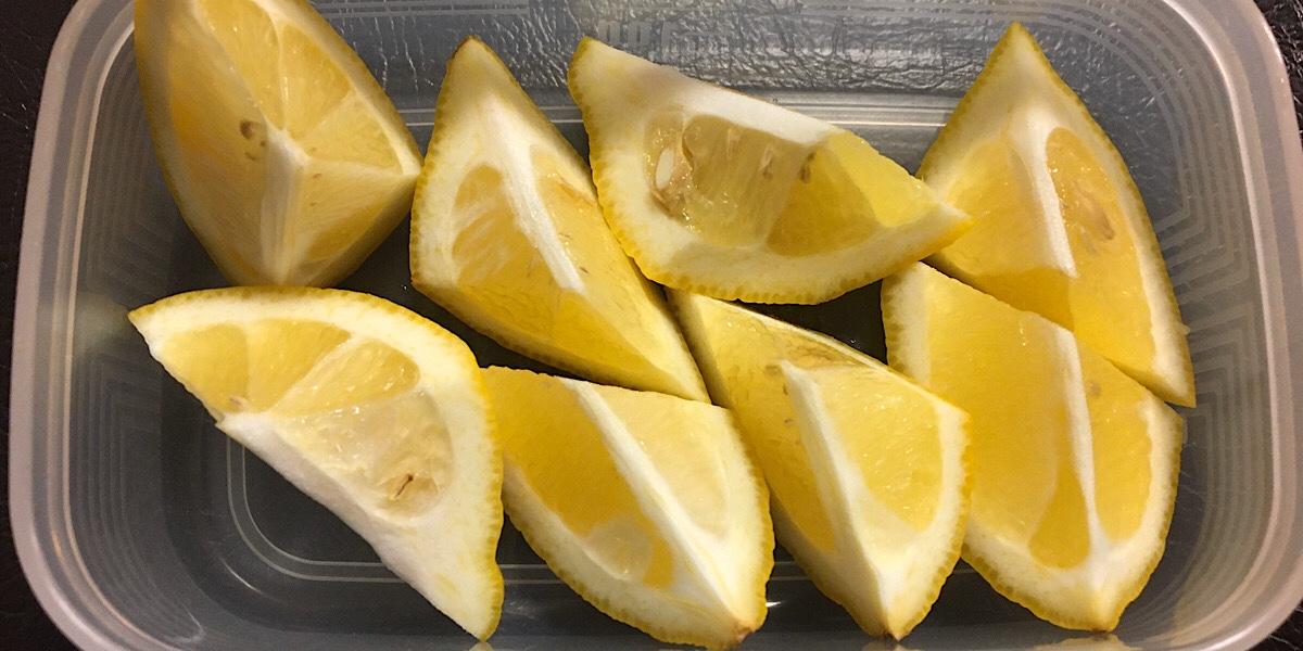 自作した凍結レモンの画像