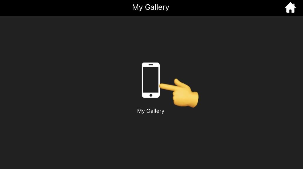 アプリから保存した動画を見る説明画像