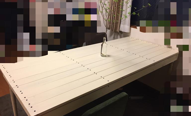 リメイクしたテーブルの画像